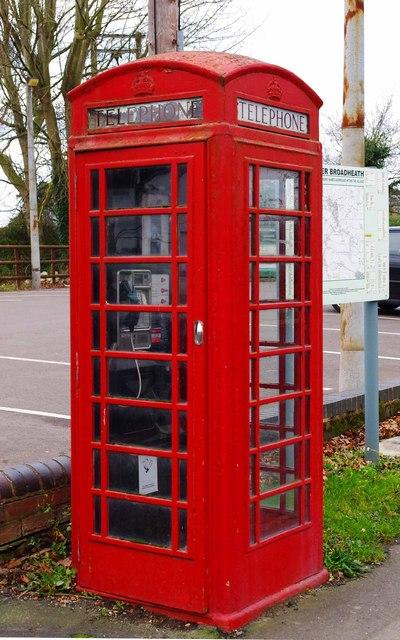 Telephone kiosk in Bell Lane, Lower Broadheath