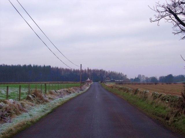 Roman road, towards West Plean