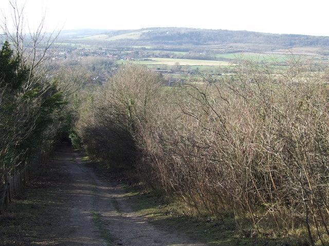 North Downs Way at Otford Mount