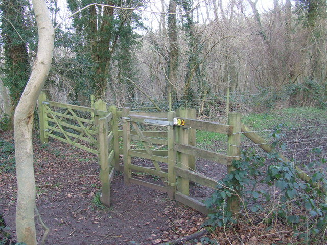 Gate on the North Downs Way near Otford