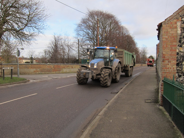 Tractor entering Feltwell