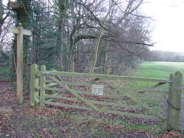 North Downs Way near Otford