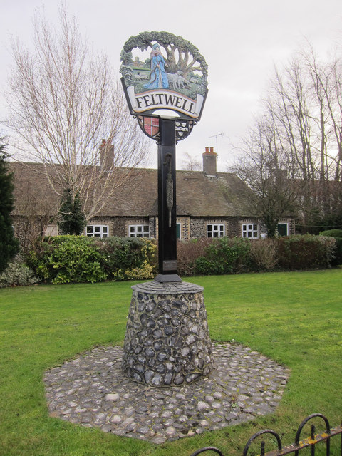 Village sign, Feltwell