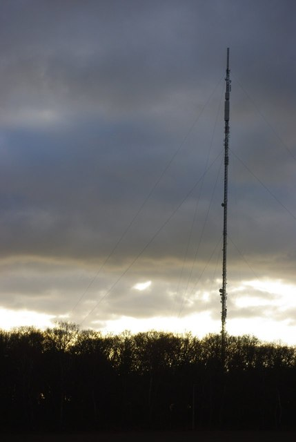 Sandy Heath TV mast