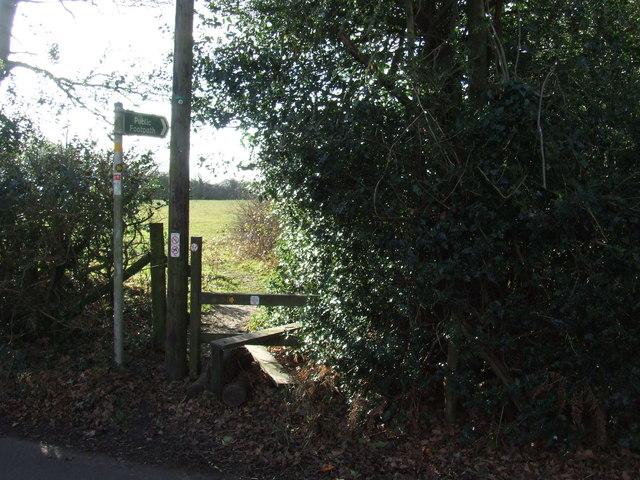 Footpath and stile near Otford