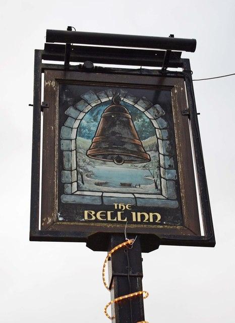 The Bell Inn (3) - sign, Martley Road, Lower Broadheath