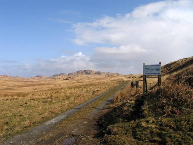 Northern end of public road on Jura