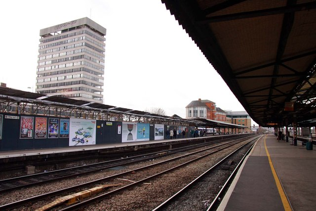 The west end of Reading Station