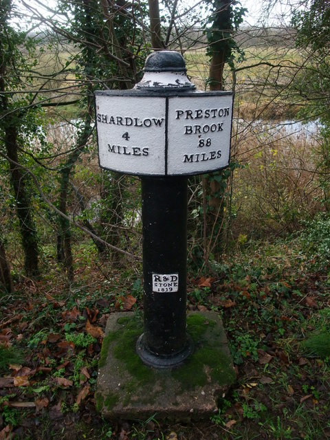 Milepost, Trent and Mersey Canal