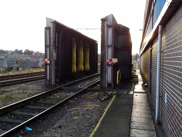 Train washer in Reading Depot