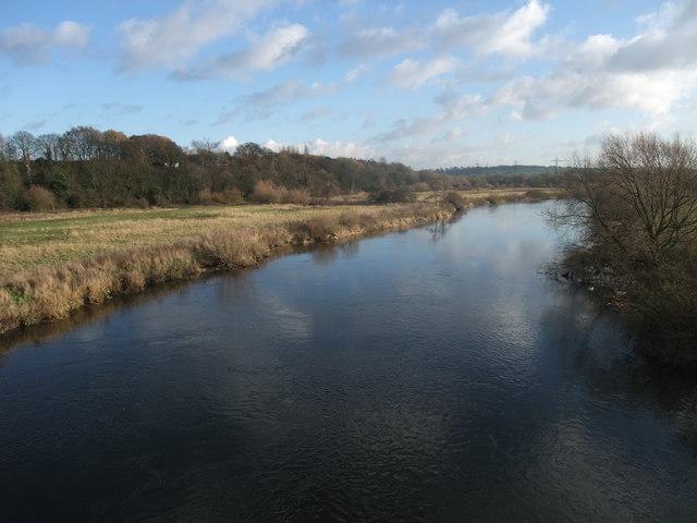 Crossing the Trent on the former Midland Railway bridge