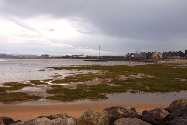 Looking across to Morecambe