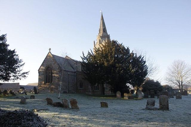 Far side of the churchyard