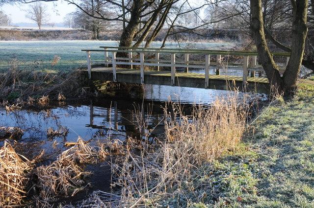 Footbridge over Old Court moat