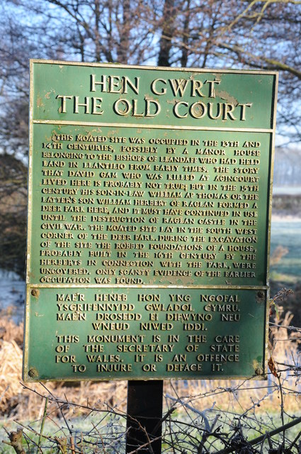 Information sign, Old Court