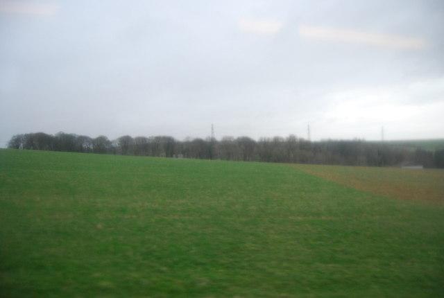 Farmland north of the A35