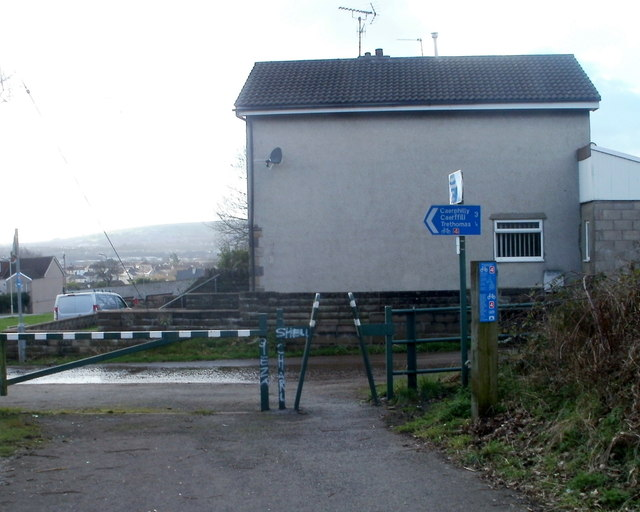 National Cycle Network route 4 reaches Trethomas