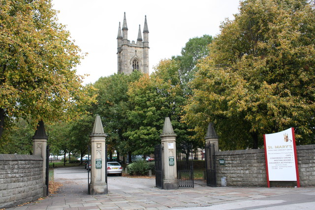Entrance to St Mary's Church, Bramhall Lane
