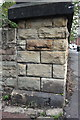 SK3586 : Benchmark on bridge parapet end, Duchess Road by Roger Templeman