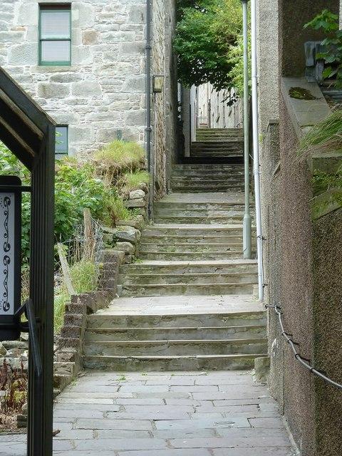 Hangcliff Lane formerly Steep Closs, Lerwick (Steps)