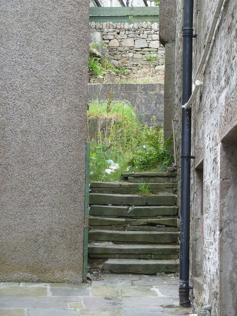 Albert Court Steps, Lerwick
