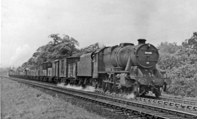 Up freight ascending Lickey Bank
