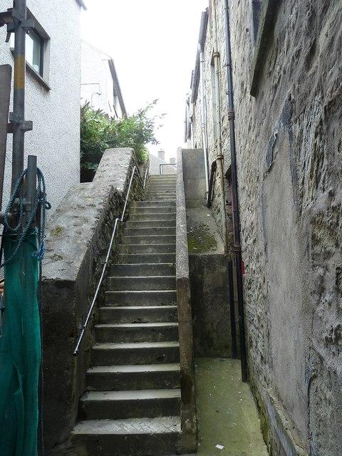 Steps, Gardie (formerly Gilbertson's) Court, Lerwick