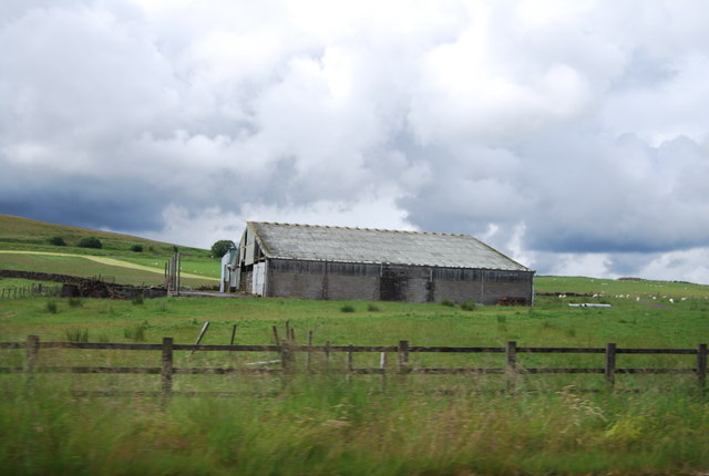 Farm building by the M74