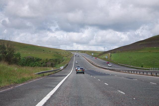 M74 heading north