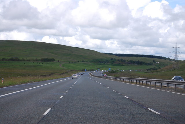M74, northbound