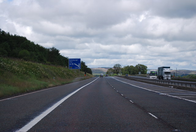 M74 south of junction 12