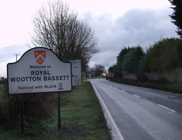 Royal Wootton Bassett Road Sign