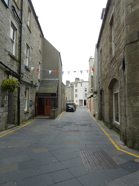 Commercial Street past the Queens Hotel, Lerwick