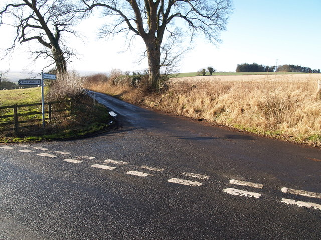 Junction on lane to Newton