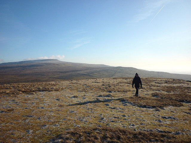 Crossing Melmerby Fell on a fine frosty afternoon