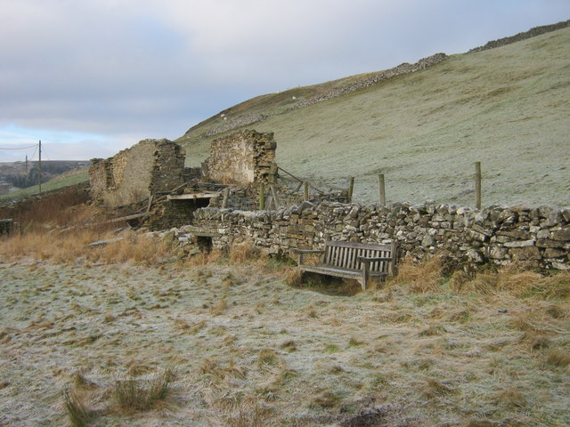 Seat at side of Langthwaite to Booze Road