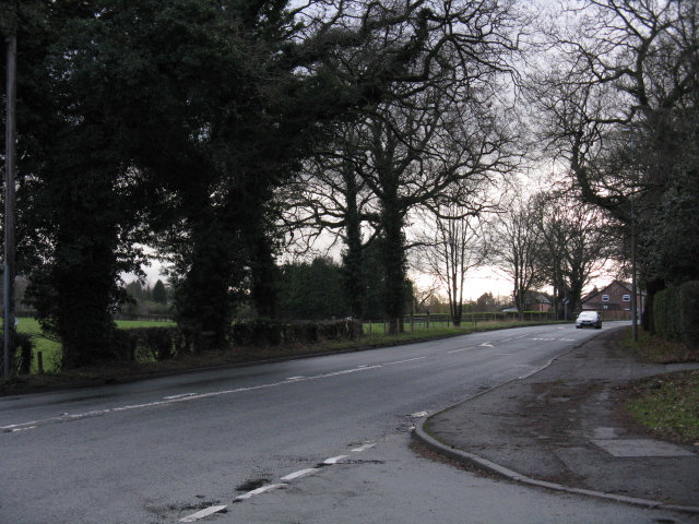 Knutsford - Toft Road, looking south from Beggarmans Lane