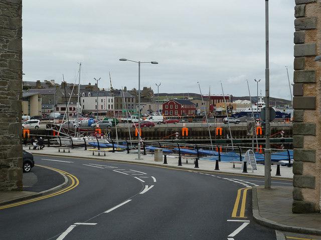 Church Road becomes the Esplanade, Lerwick