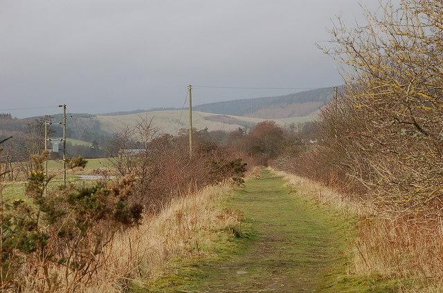 Trackbed of North British line west of Innerleithen