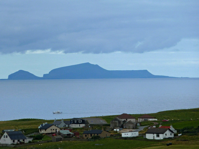 Foula from above Bigton