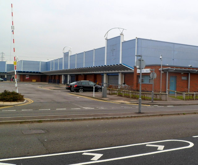Empty section of Newport Retail Park