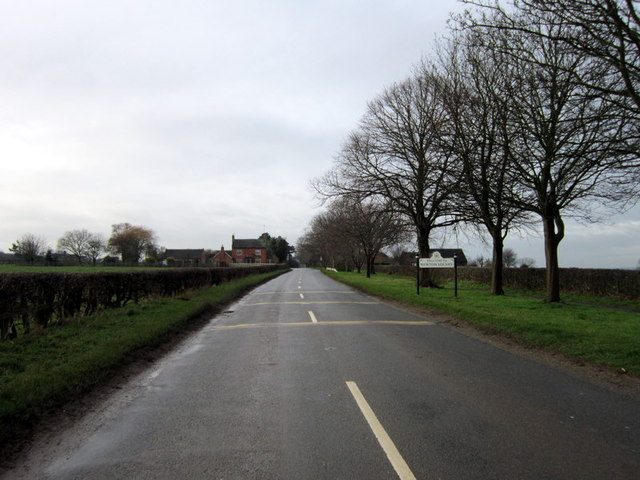 Entering Newton Solney on the Repton Road