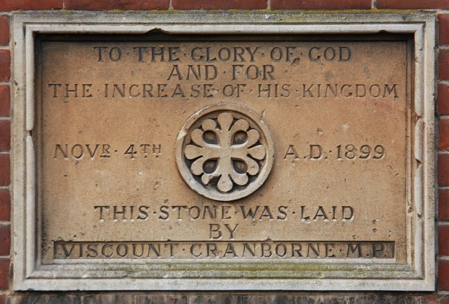St George, Hertford Road, Freezy Water - Foundation stone