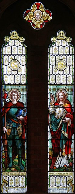 St George, Hertford Road, Freezy Water - Stained glass window