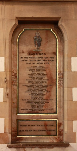 St George, Hertford Road, Freezy Water - War Memorial WWI