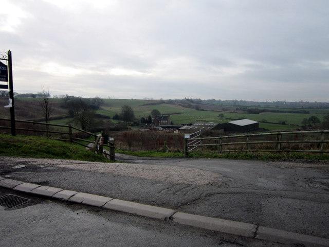 The entrance to Short Hazel Farm
