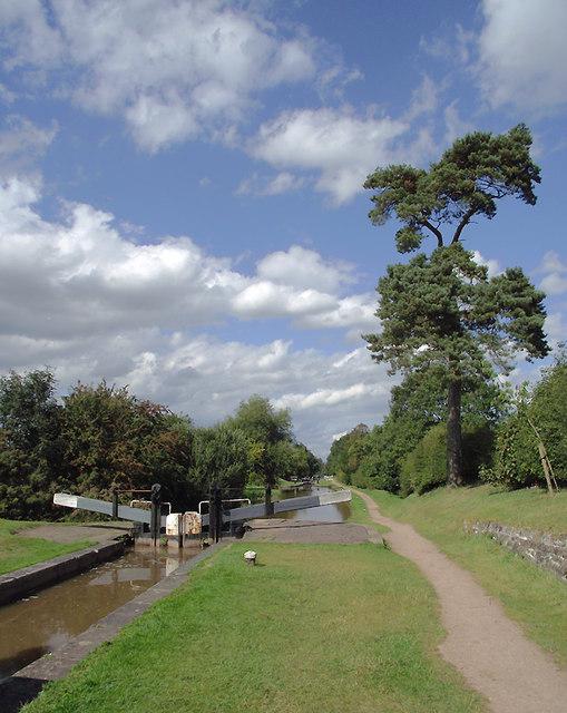 Shropshire Union Canal at Audlem Locks, Cheshire