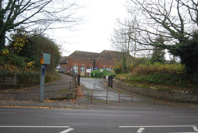 School entrance, Loose Rd