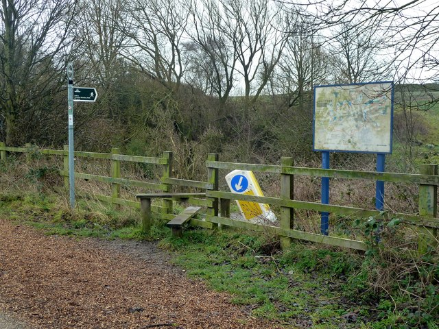 Footpath junction on the Trans Pennine Trail
