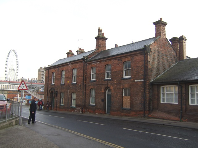 Railway buildings on Leeman Road